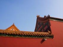 Budynek w niedozwolonym mieście Pekin miasto, Chiny 24th Octob Obrazy Royalty Free