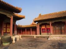 Budynek w niedozwolonym mieście Pekin miasto, Chiny 24th Octob Obraz Royalty Free