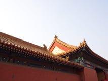 Budynek w niedozwolonym mieście Pekin miasto, Chiny 24th Octob Zdjęcia Royalty Free