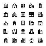 Budynek Wektorowe ikony 1 Obraz Stock