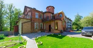 Budynek wiek wzdłuż Putna ulicy XIX, Vitebsk, Białoruś Obrazy Stock
