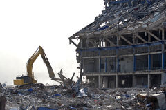 budynek wyburzający Fotografia Royalty Free