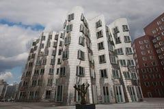 budynek wyginał się Dusseldorf Obrazy Royalty Free
