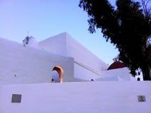 Budynek z białym izoluje, w Ibiza wyspie, Hiszpania fotografia royalty free