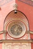 Budynek z ściennym zegarem warsaw Obraz Stock