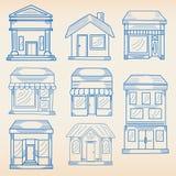 budynków biznesowy ikony set Obrazy Royalty Free