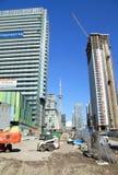 budynków budowy metalu nowożytne deski target1676_1_ pod drewnianym Obraz Royalty Free