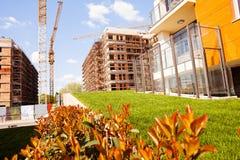 budynków budowy mieszkaniowy poniższy Fotografia Royalty Free