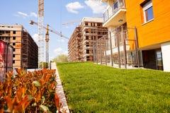 budynków budowy mieszkaniowy poniższy Obraz Stock