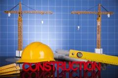 budynków budowy żurawie Obrazy Royalty Free