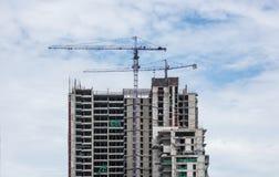 Budynków budynków i żurawi budowa Obrazy Stock