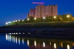 budynków bulwaru nowa rzeka Fotografia Royalty Free