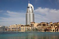 budynków burj Dubai hotelowy jezioro inny zdjęcie royalty free