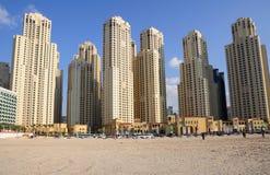 budynków Dubai highrise Zdjęcie Royalty Free