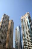 budynków Dubai marina zdjęcie royalty free