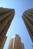 budynków Dubai marina fotografia royalty free