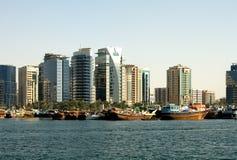 budynków Dubai nowożytny zlany zdjęcia royalty free