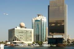 budynków Dubai nowożytny zlany fotografia stock