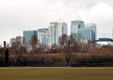 budynków kanarowy London nabrzeże Fotografia Royalty Free