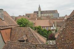 budynków miasta Germany rothenburg widok Zdjęcia Royalty Free