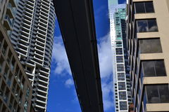 budynków miasta idzie poręcz Zdjęcie Stock