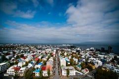 budynków miasta kolorowi domy Fotografia Royalty Free