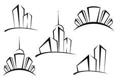budynków symbole