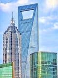 budynków wysocy Shanghai wierzchołki Zdjęcia Stock