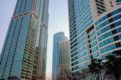 Budynki biurowi w biznesowym terenie w Seul zdjęcie royalty free