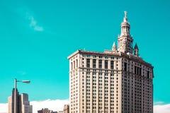 Budynki blisko Brookling mosta w Manhattan, Miasto Nowy Jork Zdjęcie Royalty Free