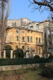 budynki blisko starego parka obraz stock