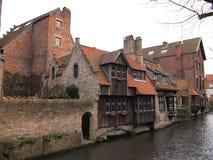 Budynki Bruges, Belgia (,) Zdjęcie Stock