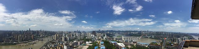 Budynki Chongqing obrazy royalty free