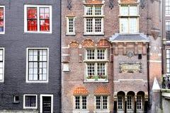 Budynki fasadowi w centrum miasta - Amsterdam, Holandia Zdjęcie Royalty Free