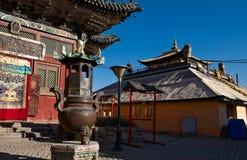 Budynki Gandantegchinlen monaster w Ulaanbaatar zdjęcie royalty free