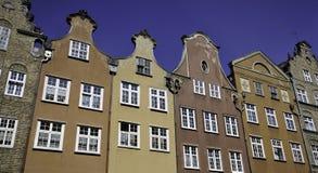 budynki Gdansk dziejowy Obrazy Royalty Free
