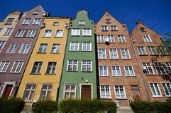 budynki Gdansk dziejowy Zdjęcia Royalty Free
