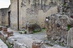 Budynki, Herculaneum Archeologiczny miejsce, Campania, Włochy zdjęcia royalty free
