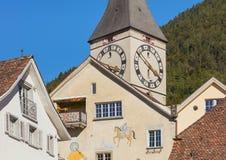 Budynki historyczna część miasto Chur, Szwajcaria obrazy stock