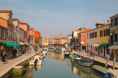 Budynki i łodzie w Murano obraz royalty free