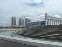 Budynki i fontanny w Astana Zdjęcie Royalty Free