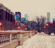 Budynki i śnieg Zdjęcia Stock