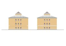 Budynki i struktury xx wiek wczesny i w połowie Rysunki domy klasyczna architektura końcówka 18-19- Fotografia Royalty Free