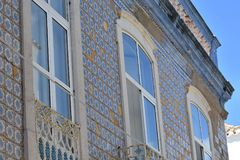 Budynki i typowi domy w Algarve, Portugalia zdjęcie royalty free
