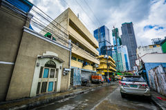 Budynki i ulica w Poblacion, Makati, metro Manila Phi Obrazy Royalty Free
