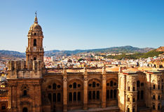 budynki katedralny główny Malaga s Zdjęcia Stock