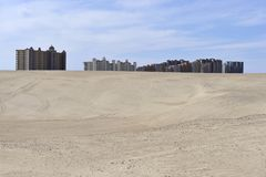 budynki kontrastują pustyni cześć Mexico wzrost piaskowatego Obraz Stock