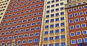 budynki Madrid nowożytny Spain Zdjęcie Stock