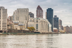Budynki Manhattan linia horyzontu nowego Jorku Obraz Stock