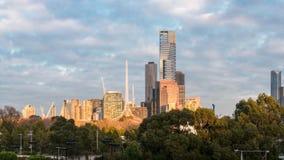 budynki Melbourne obraz royalty free